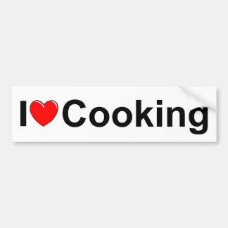J'aime (coeur) la cuisson autocollant de voiture