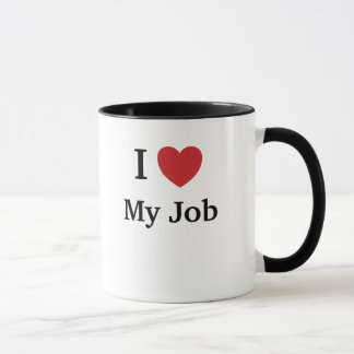 J'aime (coeur) mon travail - raisons drôles pour mug