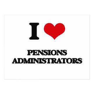 J'aime des administrateurs de pensions carte postale