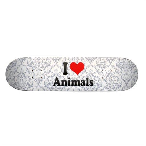 J'aime des animaux skateboards personnalisés