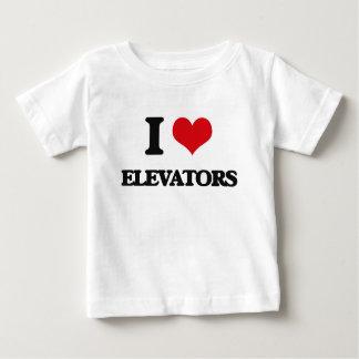 J'aime des ASCENSEURS T-shirt Pour Bébé