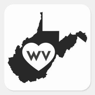 J'aime des autocollants d'état de la Virginie