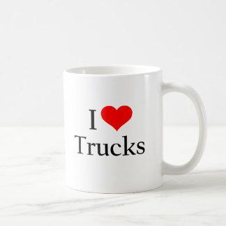 J'aime des camions tasse à café