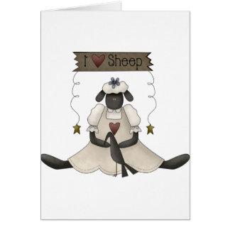 J'aime des cartes de note de moutons