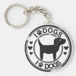 J'aime des chiens avec le chiot porte-clé