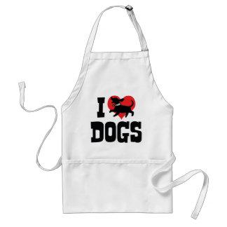 J'aime des chiens de coeur - amant de canine de tablier