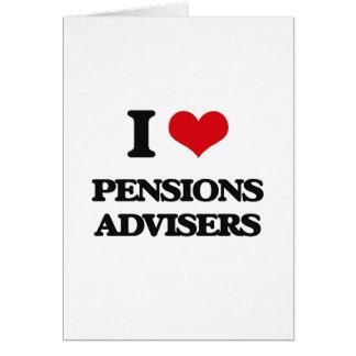 J'aime des conseillers de pensions cartes de vœux
