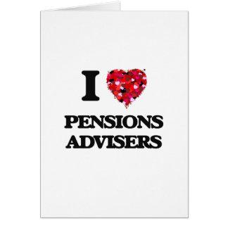 J'aime des conseillers de pensions carte de vœux