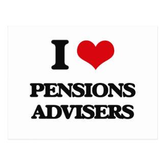 J'aime des conseillers de pensions carte postale