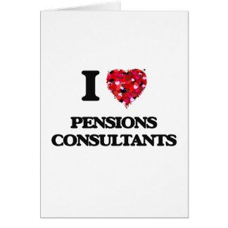J'aime des consultants en matière de pensions carte de vœux
