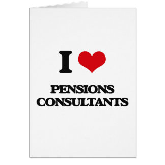 J'aime des consultants en matière de pensions cartes de vœux