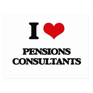 J'aime des consultants en matière de pensions carte postale