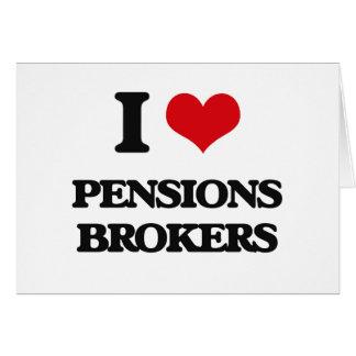 J'aime des courtiers de pensions carte de vœux