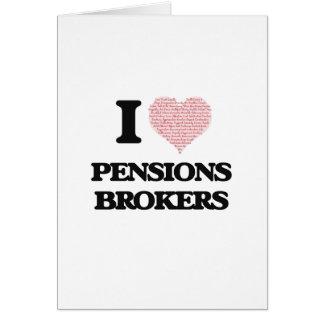 J'aime des courtiers de pensions (le coeur fait à carte de vœux