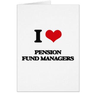 J'aime des directeurs de fonds de pension cartes de vœux