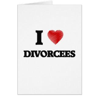 J'aime des divorcés carte de vœux