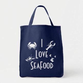 J'aime des fruits de mer tote bag