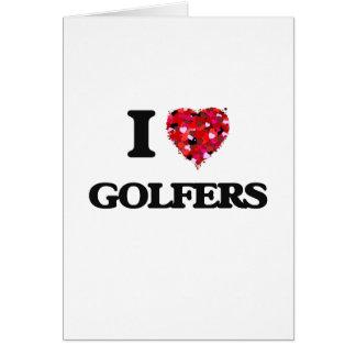 J'aime des golfeurs carte de vœux