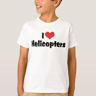 J'aime des hélicoptères de coeur t-shirt