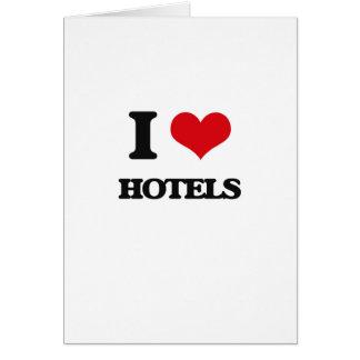 J'aime des hôtels carte de vœux