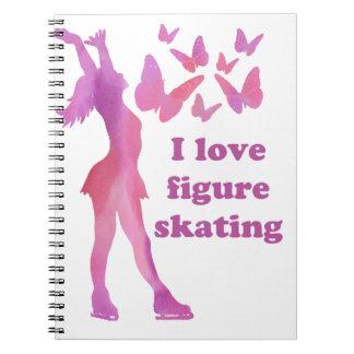 J'aime des objets à offrir de patinage artistique carnet
