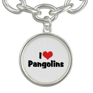 J'aime des Pangolins de coeur - amant de Pangolin Bracelets