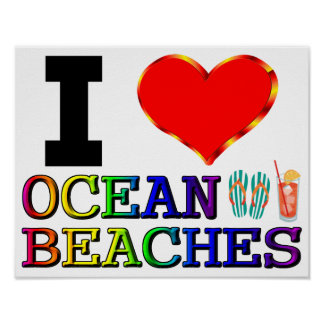 J'aime des plages d'océan
