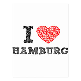 J'aime Hambourg Carte Postale
