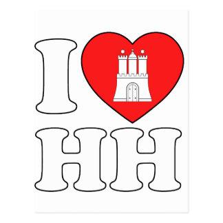 J'aime Hambourg (HH) Carte Postale