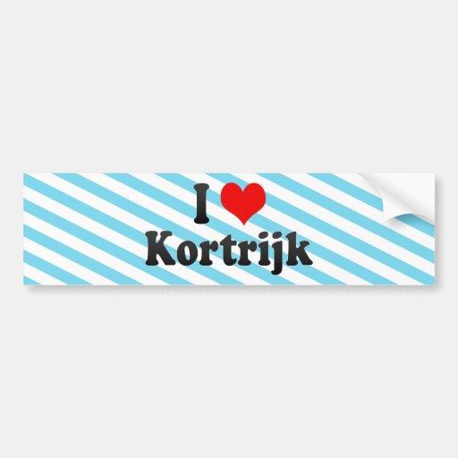 J'aime Kortrijk, Belgique Adhésif Pour Voiture