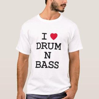 j'aime la basse du tambour n t-shirt