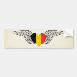 J'aime la Belgique - ailes Autocollant Pour Voiture