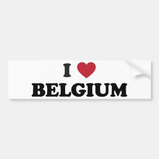 J'aime la Belgique Autocollant De Voiture
