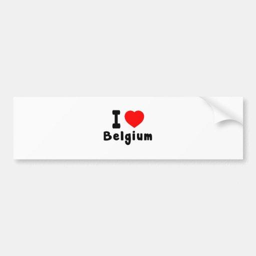 J'aime la Belgique Autocollant Pour Voiture