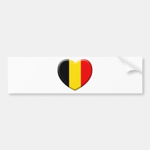 j'aime la Belgique Adhésif Pour Voiture