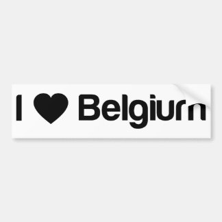 J'aime la Belgique Adhésifs Pour Voiture