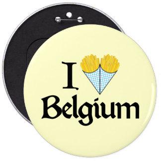 J'aime la Belgique Badge Rond 15,2 Cm