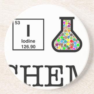 J'aime la chimie dessous de verre en grès