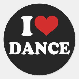 J'aime la danse sticker rond