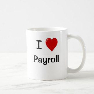 J'aime la feuille de paie - feuille de paie de mug