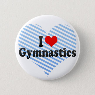 J'aime la gymnastique badge rond 5 cm