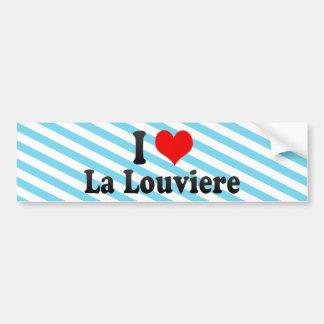 J'aime la La Louviere, Belgique Autocollant De Voiture