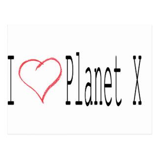 J'aime la planète X Carte Postale