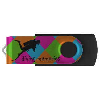 J'aime la plongée à l'air USB flashdrive Clé USB 2.0 Swivel