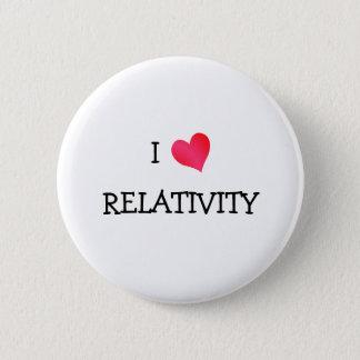 J'aime la relativité badge rond 5 cm