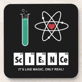 J'aime la Science - dessous de verre de liège
