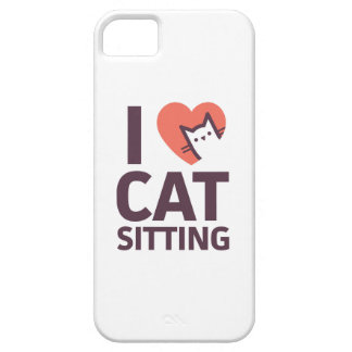 J'aime la séance de chat iPhone 5 case