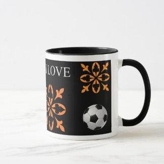 J'aime la tasse du football,