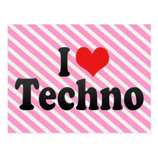 J'aime la techno carte postale