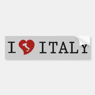 J'aime l'adhésif pour pare-chocs de l'Italie Autocollant Pour Voiture